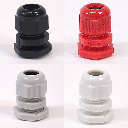 100 x White M20 IP68 Nylon Dome Compression TRS Cable Glands /& Locknuts Quality