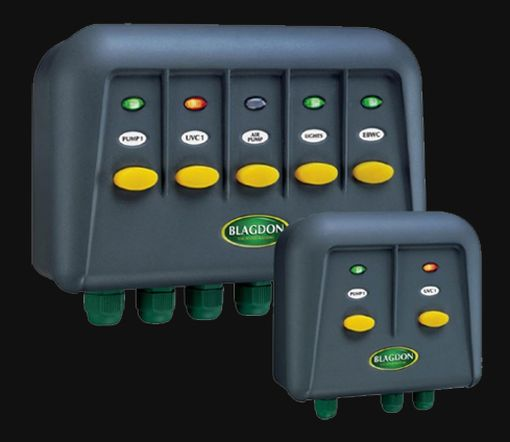 Blagdon powersafe outlet switch boxes for Garden pond electrics